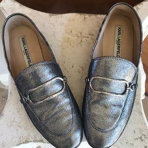Karl Lagerfeld Paris Glitter Loafers